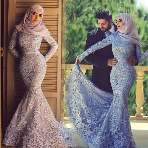 Узкое Мусульманское свадебное платье для невесты