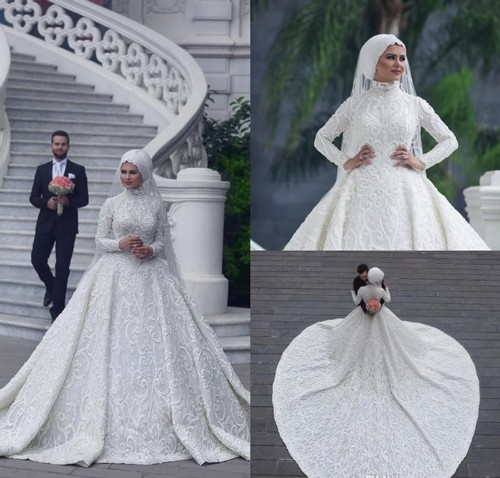 Пышное мусульманское свадебное платье для невесты