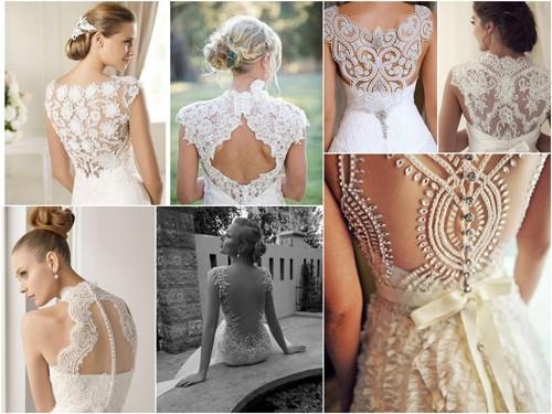 Кружево на свадебных платьях