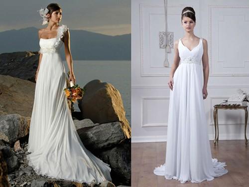 Свадебно платье Ампир