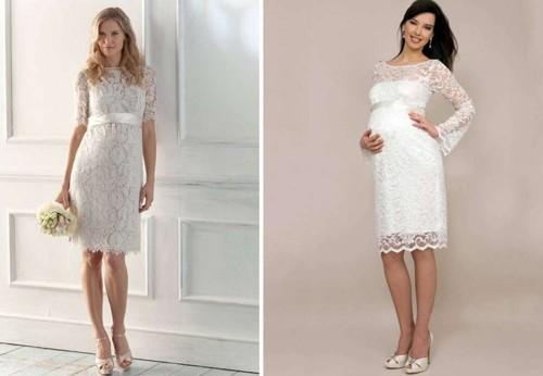 Скромные свадебные платья для беременных