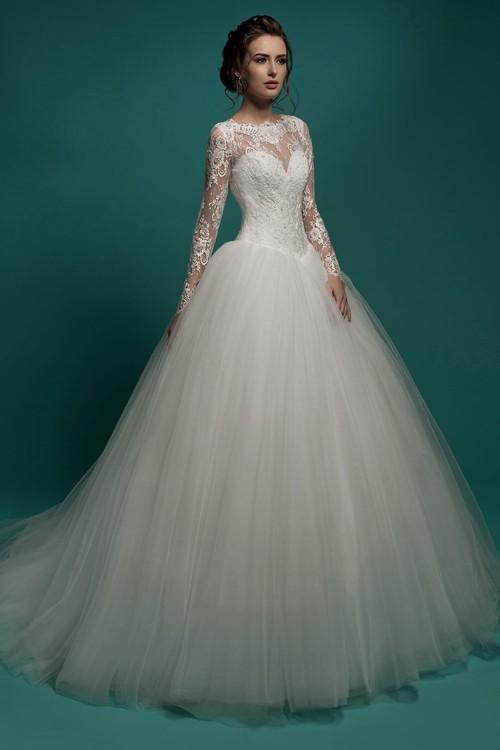 Свадебное платье Gabbiano с рукавами