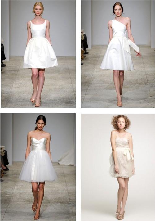 Короткие скромные свадебные платья