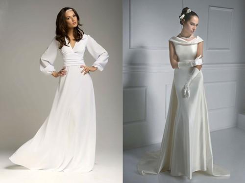 Непышное скромные свадебные платья