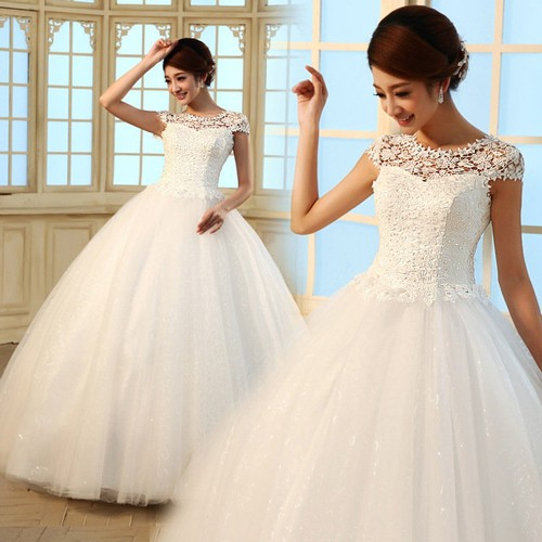 Платье невесты с закрытыми плечами