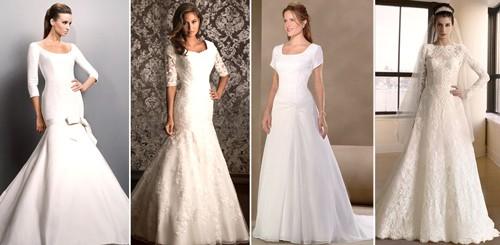 Скромные свадебные платья с рукавами