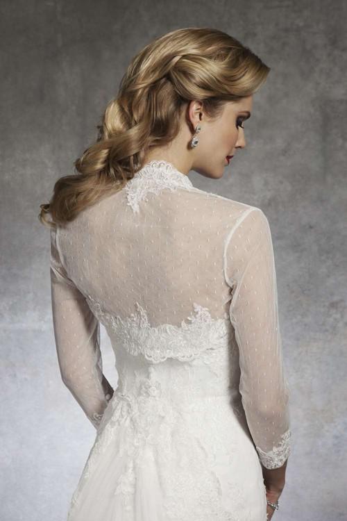 Платье невесты с закрытой спиной