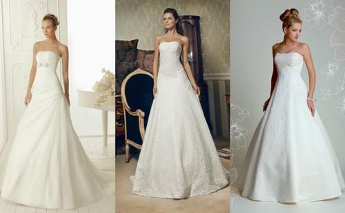 Свадебные платья А-силуэта на фото