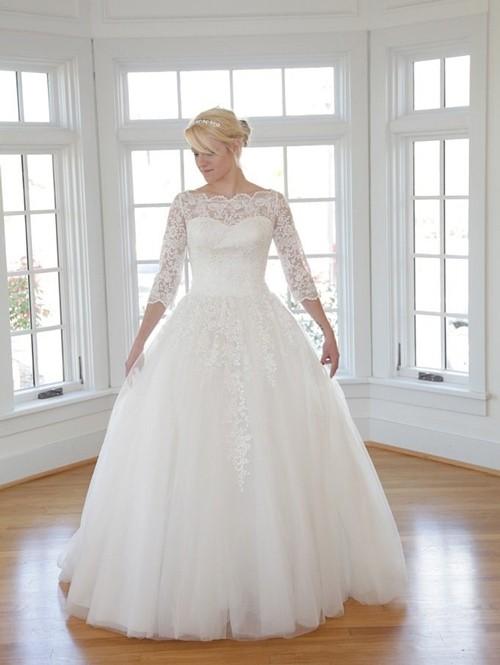 Пышное зимнее платье невесты