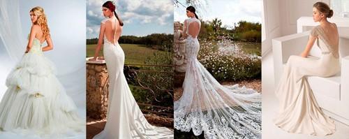 Открытые платья для невесты