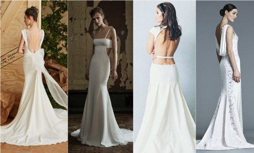 Свадебные платья для невесты с открытой спиной