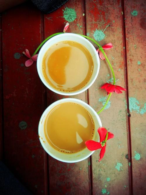 молоко чай