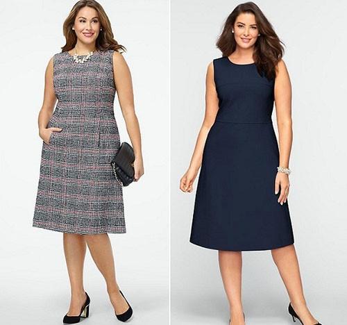 Платье-трапеция для мамы