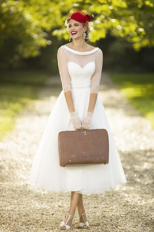wedding-dress-tea-length-wedding-dresses-vintage