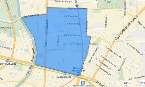 часть центра оснащена платными парковочными зонами