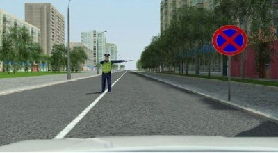 может ли водитель остановиться по требованию регулировщика в зоне действия 3.27