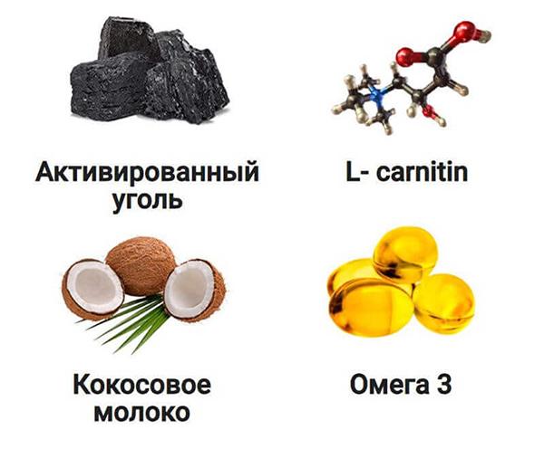 Компоненты угольного кофе