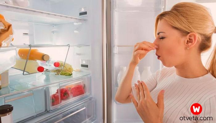 Как убрать неприятный запах из холодильника