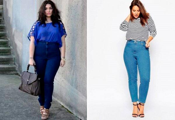 джинсы полным женщинам пример