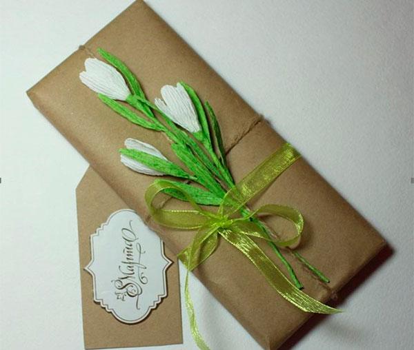 Праздничное оформление подарочного шоколада