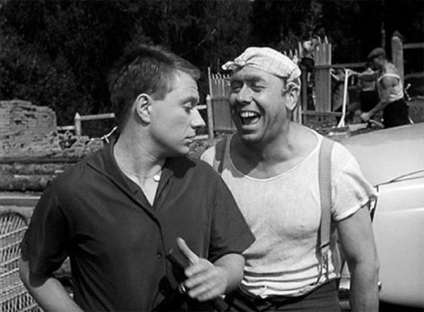 "Дима Семицветов ленте ""Берегись автомобиля"", 1966 год"