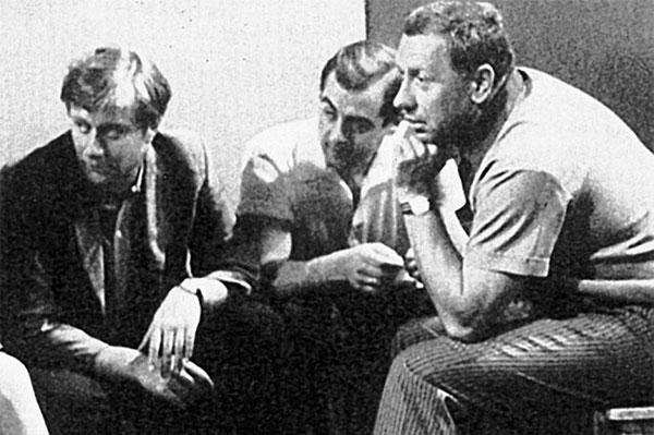 Папанов с Андреем Мироновым и Марком Захаровым