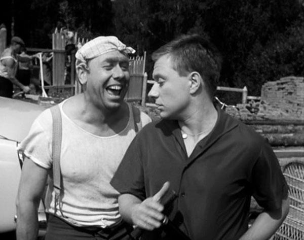 """С Андреем Мироновым в комедии """"Берегись автомобиля!"""",1966 год"""