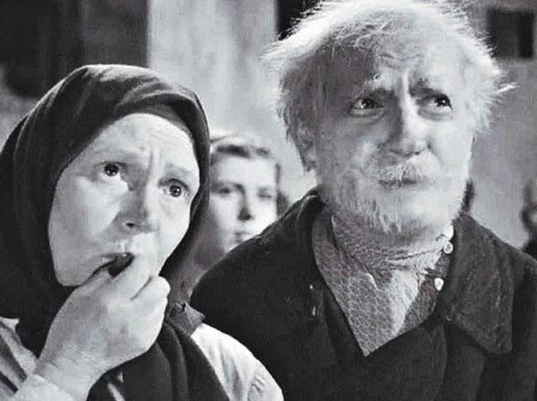 """Дед Мусий в """"Максиме Перепелице"""", 1955 год"""